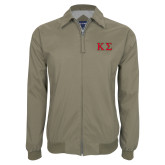 Khaki Players Jacket-Kappa Sigma - Greek Letters - 2 Color