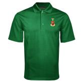 Dark Green Mini Stripe Polo-Crest