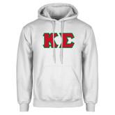White Fleece Hood-Kappa Sigma - Greek Letters Tackle Twill