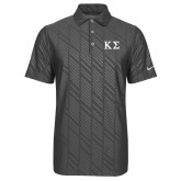 Nike Dri Fit Charcoal Embossed Polo-Kappa Sigma - Greek Letters
