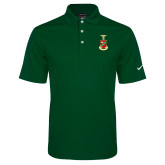 Nike Golf Dri Fit Dark Green Micro Pique Polo-Crest