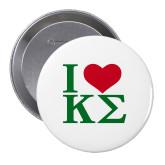 2.25 inch Round Button-I Heart Kappa Sigma