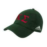 Adidas Dark Green Slouch Unstructured Low Profile Hat-Kappa Sigma - Greek Letters