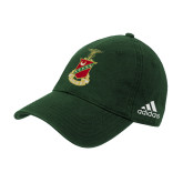 Adidas Dark Green Slouch Unstructured Low Profile Hat-Crest