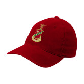 Red OttoFlex Unstructured Low Profile Hat-Crest