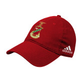 Adidas Red Slouch Unstructured Low Profile Hat-Crest