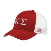 Adidas Red Structured Adjustable Hat-Kappa Sigma - Greek Letters
