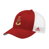 Adidas Red Structured Adjustable Hat-Crest