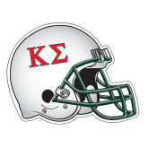 Football Helmet Magnet-Kappa Sigma - Greek Letters - 2 Color