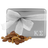 Deluxe Nut Medley Silver Large Tin-Kappa Sigma - Greek Letters - Engraved