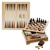 Lifestyle 7 in 1 Desktop Game Set-Kappa Sigma - Greek Letters - Engraved