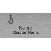 Brushed Silver w/ Black Name Badge-Crest Engraved