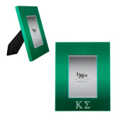 Kelly Green Brushed Aluminum 3 x 5 Photo Frame-Kappa Sigma - Greek Letters - Engraved