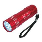 Industrial Triple LED Red Flashlight-Kappa Sigma - Greek Letters - Engraved