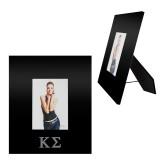 Black Metal 5 x 7 Photo Frame-Kappa Sigma - Greek Letters - Engraved