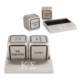 Icon Action Dice-Kappa Sigma - Greek Letters - Engraved