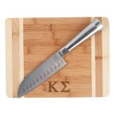 Oneida Cutting Board and Santoku Knife Set-Kappa Sigma - Greek Letters - Engraved
