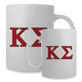 Full Color White Mug 15oz-Kappa Sigma - Greek Letters - 2 Color