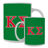Full Color White Mug 15oz-Kappa Sigma - Greek Letters - 2 Color