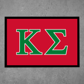 Full Color Indoor Floor Mat-Kappa Sigma - Greek Letters - 2 Color
