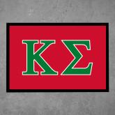 Full Color Indoor Floor Mat-Kappa Sigma - Greek Letters - 2 Color