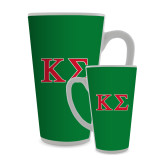 Full Color Latte Mug 17oz-Kappa Sigma - Greek Letters - 2 Color