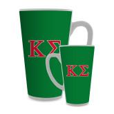 Full Color Latte Mug 17oz-Kappa Sigma - Greek Letters - 2 Color