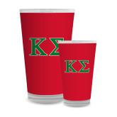 Full Color Glass 17oz-Kappa Sigma - Greek Letters - 2 Color