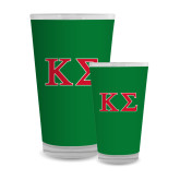 Full Color Glass 17oz-Kappa Sigma - Greek Letters - 2 Color
