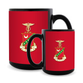 Full Color Black Mug 15oz-Crest
