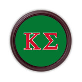 Round Coaster Frame w/Insert-Kappa Sigma - Greek Letters - 2 Color