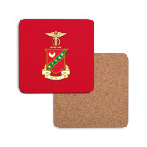 Hardboard Coaster w/Cork Backing-Crest