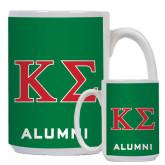 Alumni Full Color White Mug 15oz-Kappa Sigma - Greek Letters - 2 Color