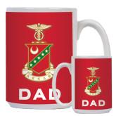 Dad Full Color White Mug 15oz-Crest