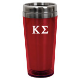 Solano Acrylic Red Tumbler 16oz-Kappa Sigma - Greek Letters