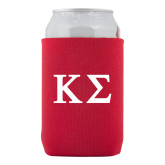 Collapsible Red Can Holder-Kappa Sigma - Greek Letters - 2 Color