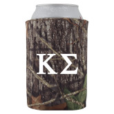 Collapsible Mossy Oak Camo Can Holder-Kappa Sigma - Greek Letters