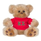 Plush Big Paw 8 1/2 inch Brown Bear w/Red Shirt-Kappa Sigma - Greek Letters - 2 Color