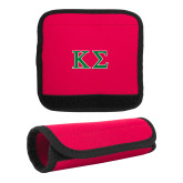 Neoprene Red Luggage Gripper-Kappa Sigma - Greek Letters - 2 Color