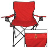 Deluxe Red Captains Chair-Crest