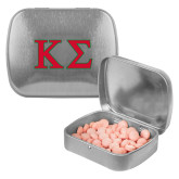 Silver Rectangular Peppermint Tin-Kappa Sigma - Greek Letters - 2 Color
