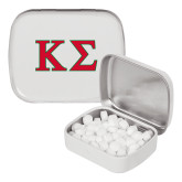 White Rectangular Peppermint Tin-Kappa Sigma - Greek Letters - 2 Color