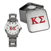 Mens Stainless Steel Fashion Watch-Kappa Sigma - Greek Letters - 2 Color