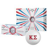 Callaway Supersoft Golf Balls 12/pkg-Kappa Sigma - Greek Letters - 2 Color