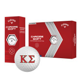 Callaway Chrome Soft Golf Balls 12/pkg-Kappa Sigma - Greek Letters - 2 Color