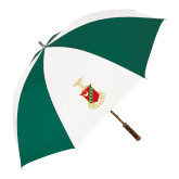 62 Inch Forest Green/White Umbrella-Crest