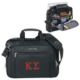 Kenneth Cole Black Vertical Checkpoint Friendly Messenger-Kappa Sigma - Greek Letters - 2 Color