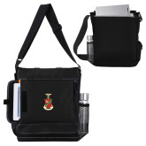 Impact Vertical Black Computer Messenger Bag-Crest