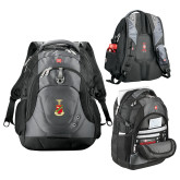 Wenger Swiss Army Tech Charcoal Compu Backpack-Crest