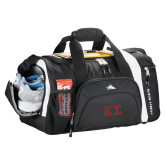 High Sierra Black 22 Inch Garrett Sport Duffel-Kappa Sigma - Greek Letters - 2 Color